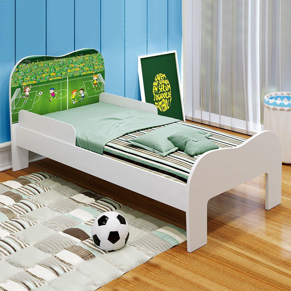 Minicama Soneca Futebol Branco - Tigus Baby