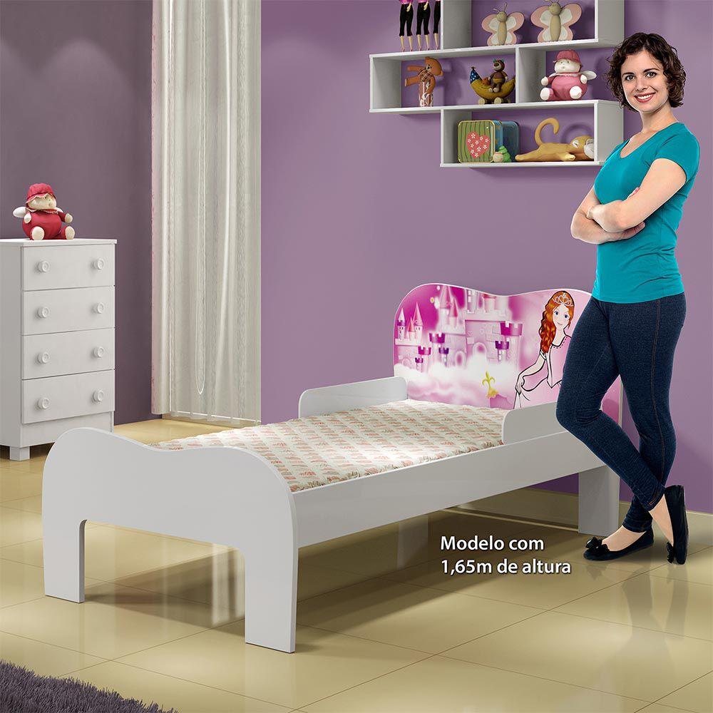 Minicama Soneca Princesa Branco - Tigus Baby
