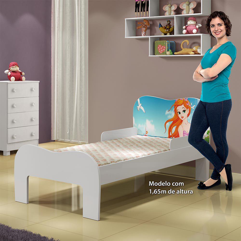 Minicama Soneca Sereia Branco - Tigus Baby