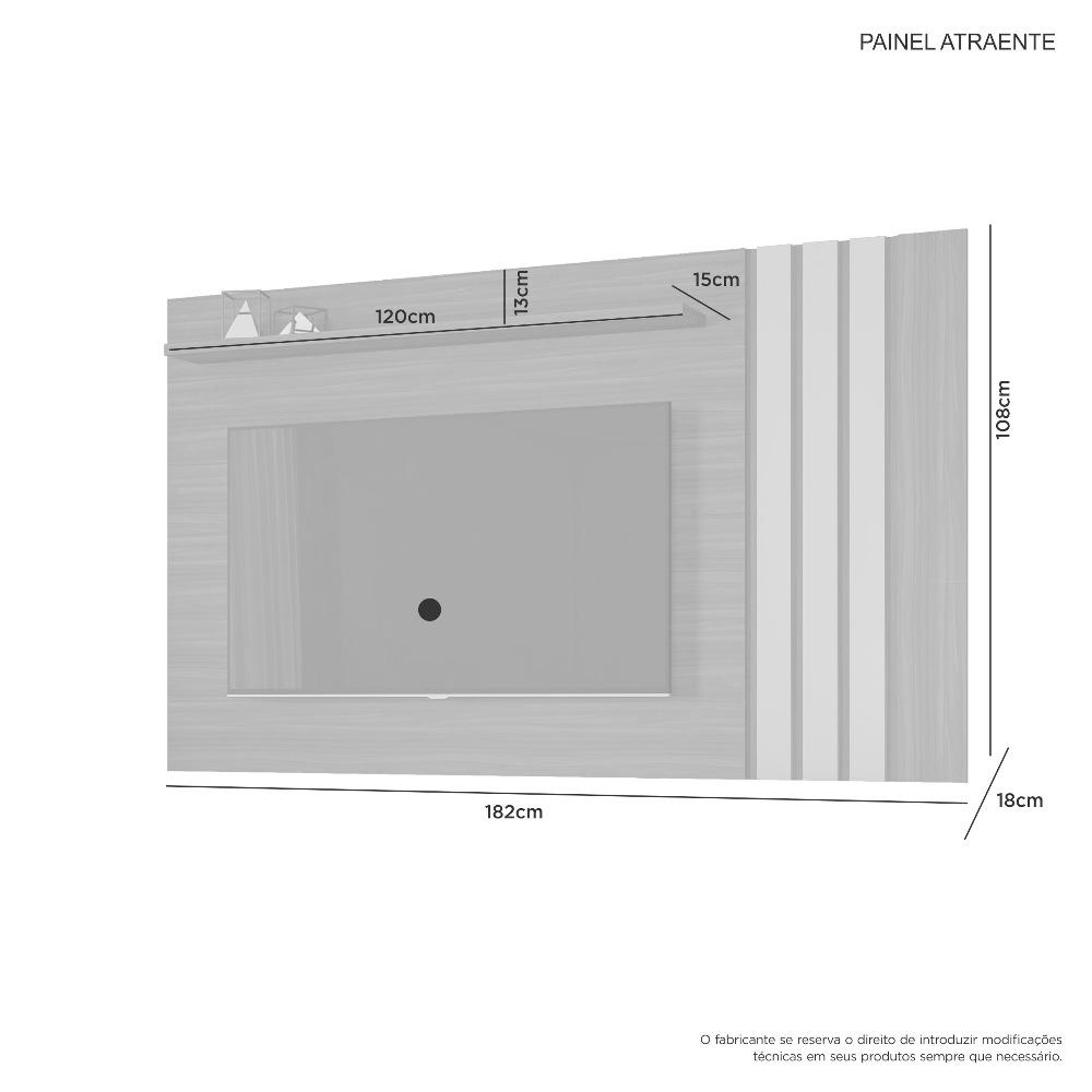 Painel Atraente Branco - JCM Movelaria