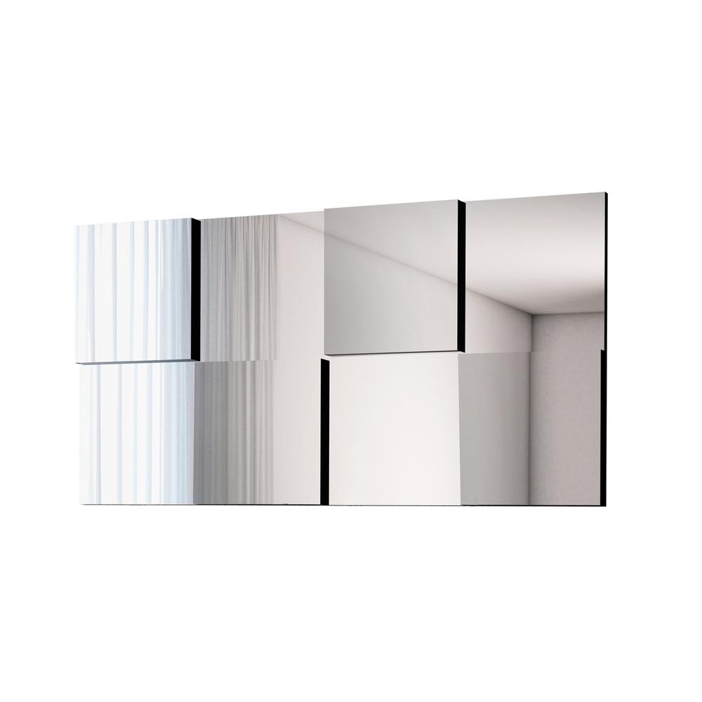 Painel Espelhado Criative 136x68  - Preto - Cel Móveis