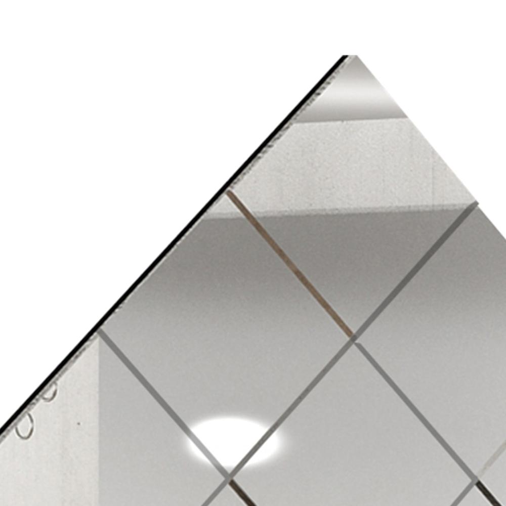 Painel Espelhado Evidence 78x78  - Preto - Cel Móveis