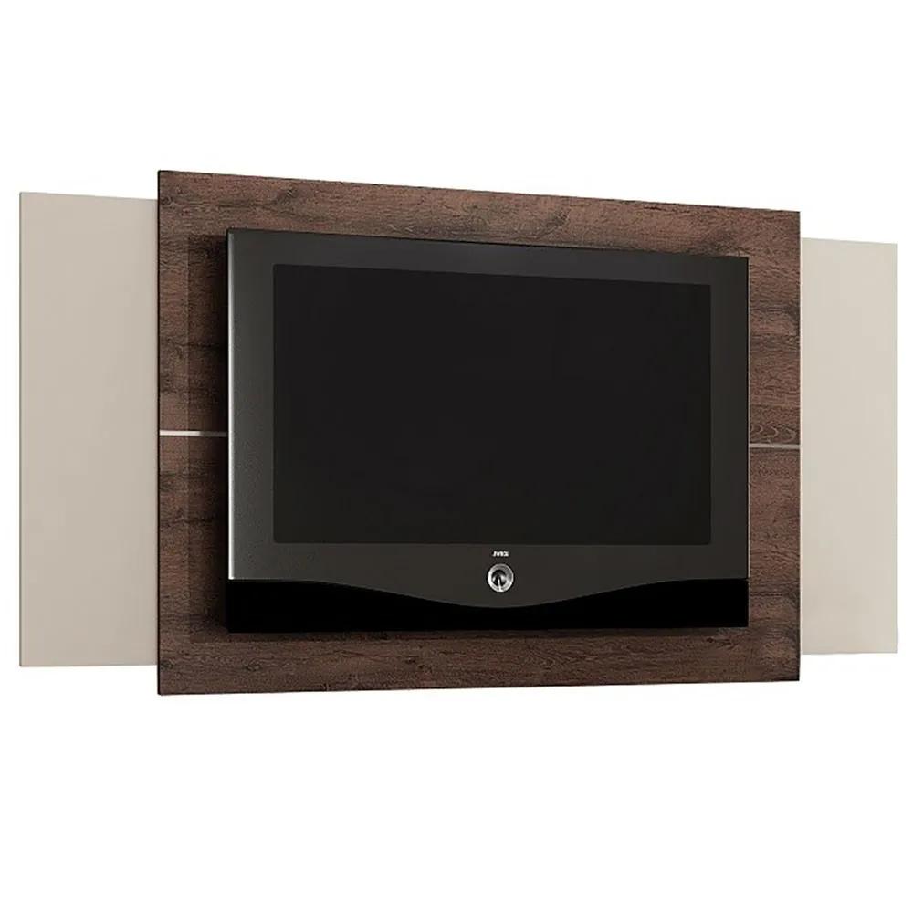 Painel Fit p/ TV até 42 Polegadas Castanho/off white - Valdemóveis