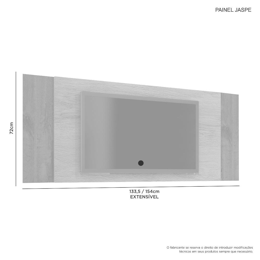 Painel Jaspe Noronha Off/Noronha Grafite Flex - JCM Movelaria