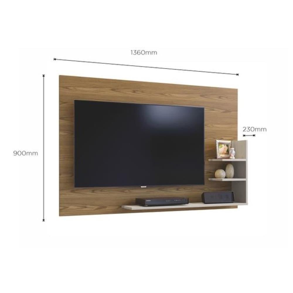 Painel para TV até 40 Polegadas  Exclusive Mavaular - Damasco Soft/Off White - Mavaular