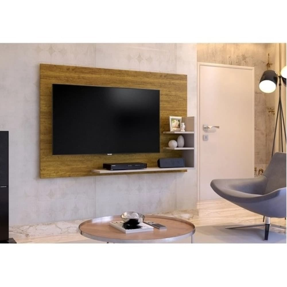 Painel para TV até 40 Polegadas  Exclusive Mavaular - Mel/Off White - Mavaular