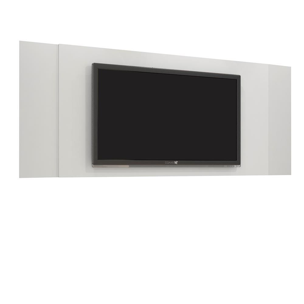 """Painel para TV até 42"""" Jaspe Branco JCM Móveis"""