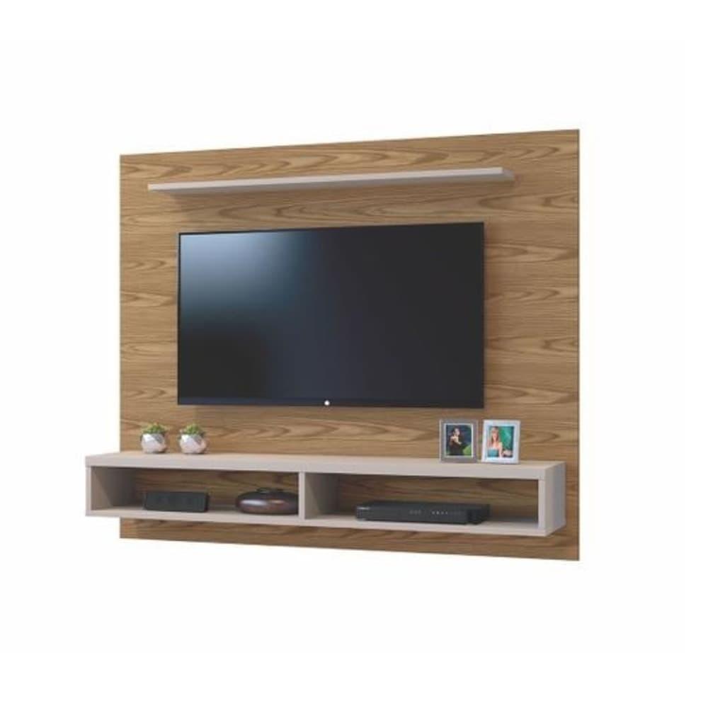 Painel para TV até 50 Polegadas  Topázio  Mavaular  - Canion Soft /Off White - Mavaular