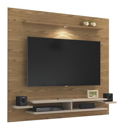 Painel para TV até 65 Polegadas Mavaular New - Damasco Soft/Off White - Mavaular