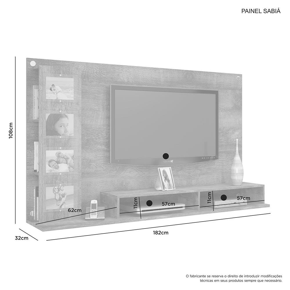 Painel Sabia Cacau/Grigio - JCM Movelaria