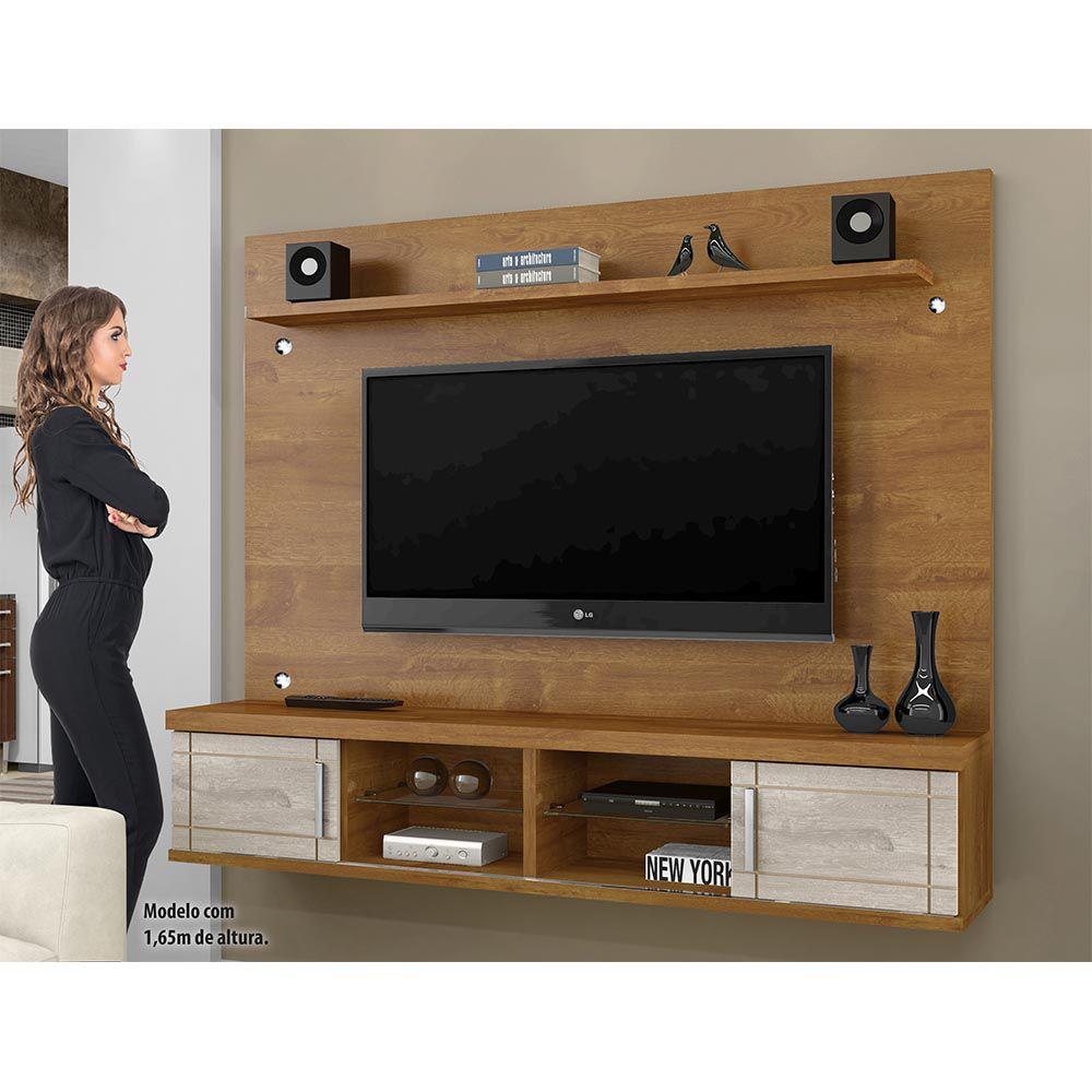 Painel TV 60 Pol Valença Caramelo/Champanhe/Caramelo - CHF