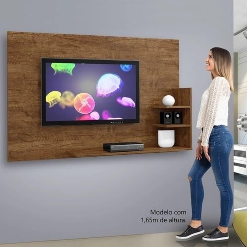 "Painel TV até 40"" Exclusive - Canion/Off White - Mavaular"