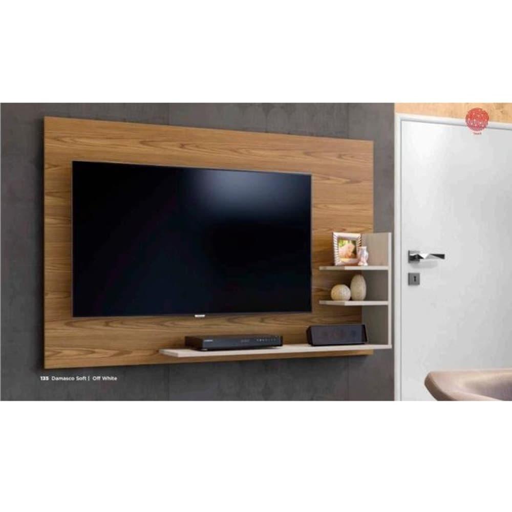 "Painel TV até 40"" Exclusive - Damasco/Off White - Mavaular"