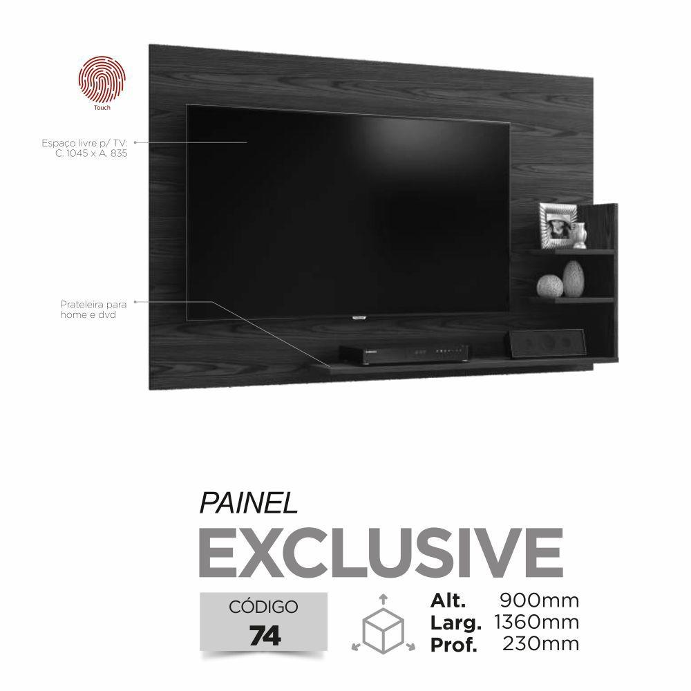 """Painel TV até 40"""" Exclusive - Mel/Off White - Mavaular"""