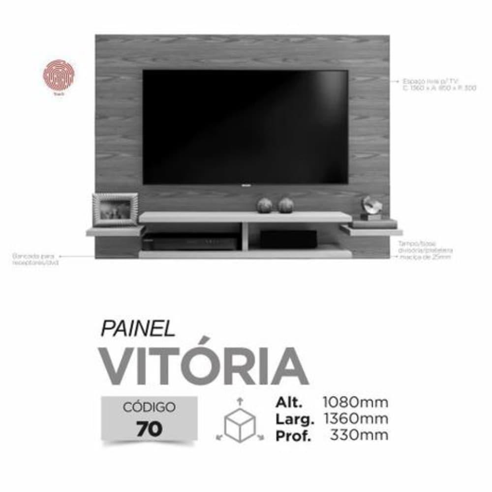 "Painel TV até 55"" Vitória Mavaular - Canion Soft  - Mavaular"