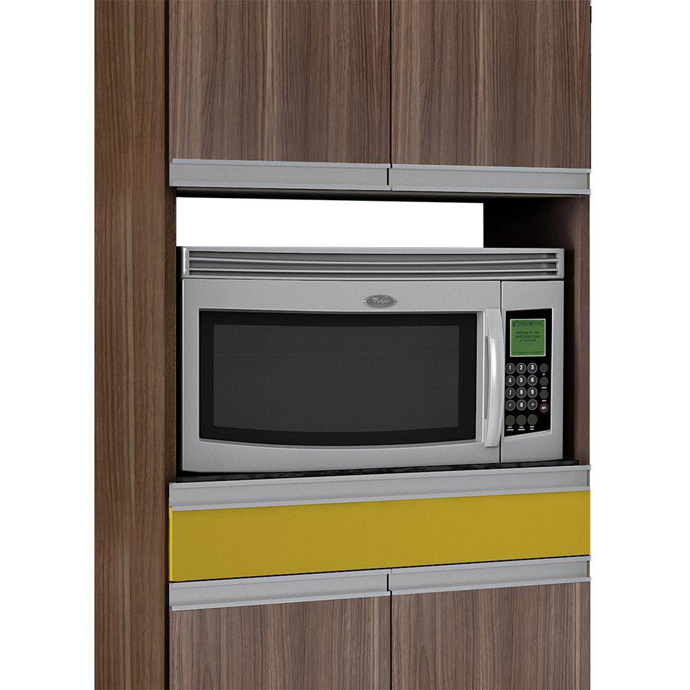 Paneleiro 4 Portas 1 Gav Turmalina Mocaccino/Amarelo - CHF