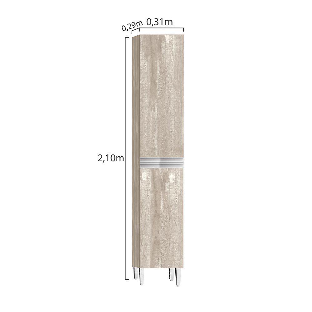 Paneleiro Simples 2 Portas 31cm Ébano Champanhe - CHF