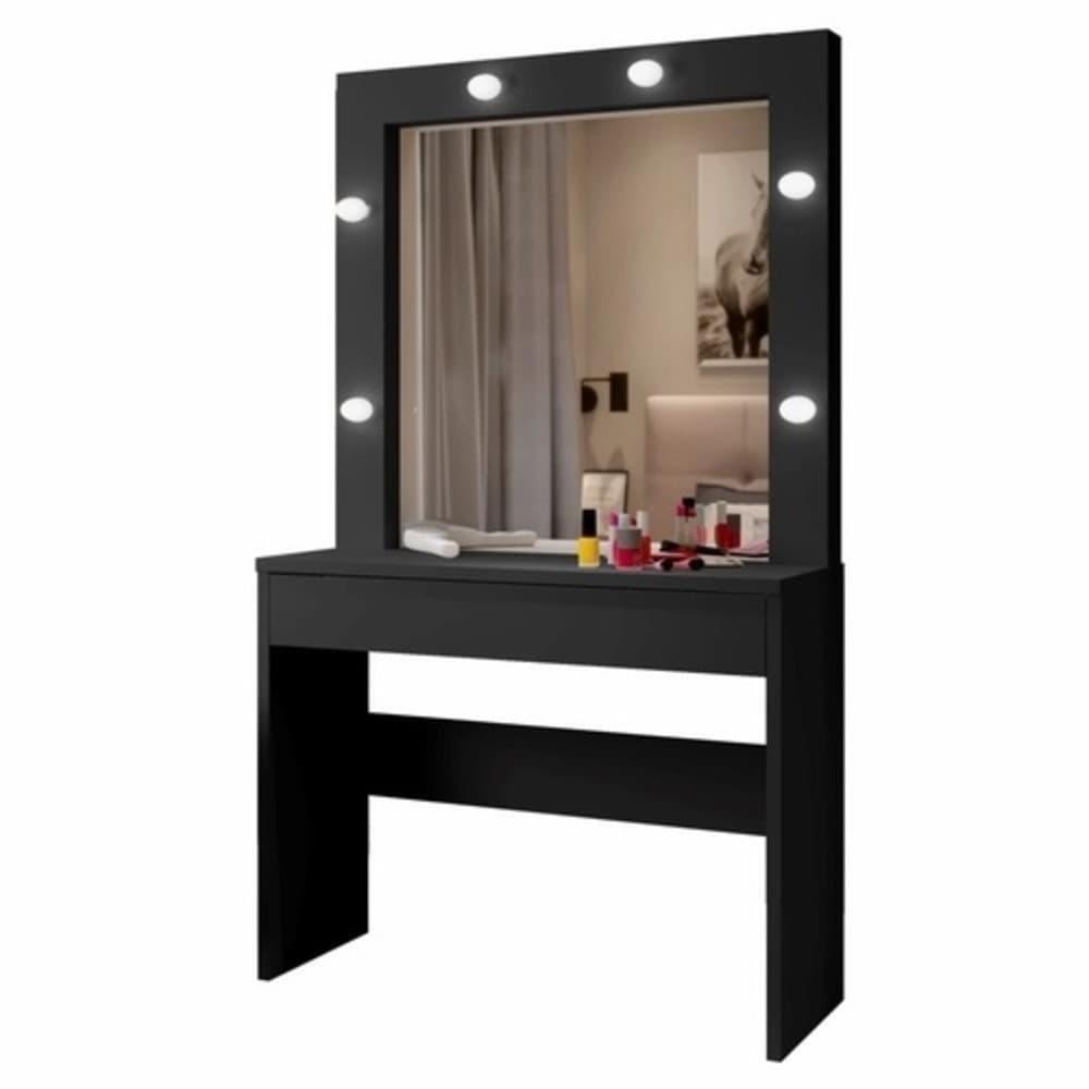 Penteadeira Camarim com Espelho Romance - Preto - Mavaular