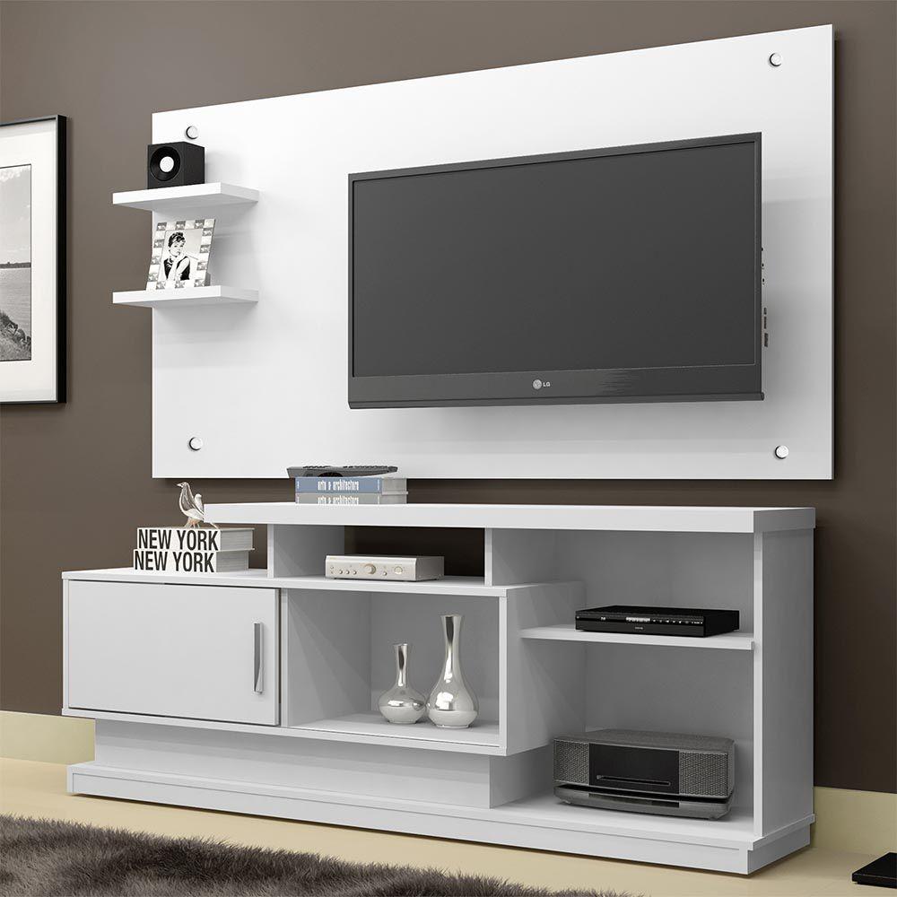 Rack com Painel TV até 48 Polegadas Camaçari Branco - CHF