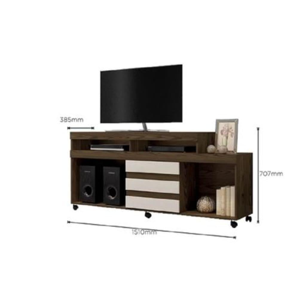 Rack para TV até 42 Polegadas Triunfo - Canion Soft /Off White - Mavaular