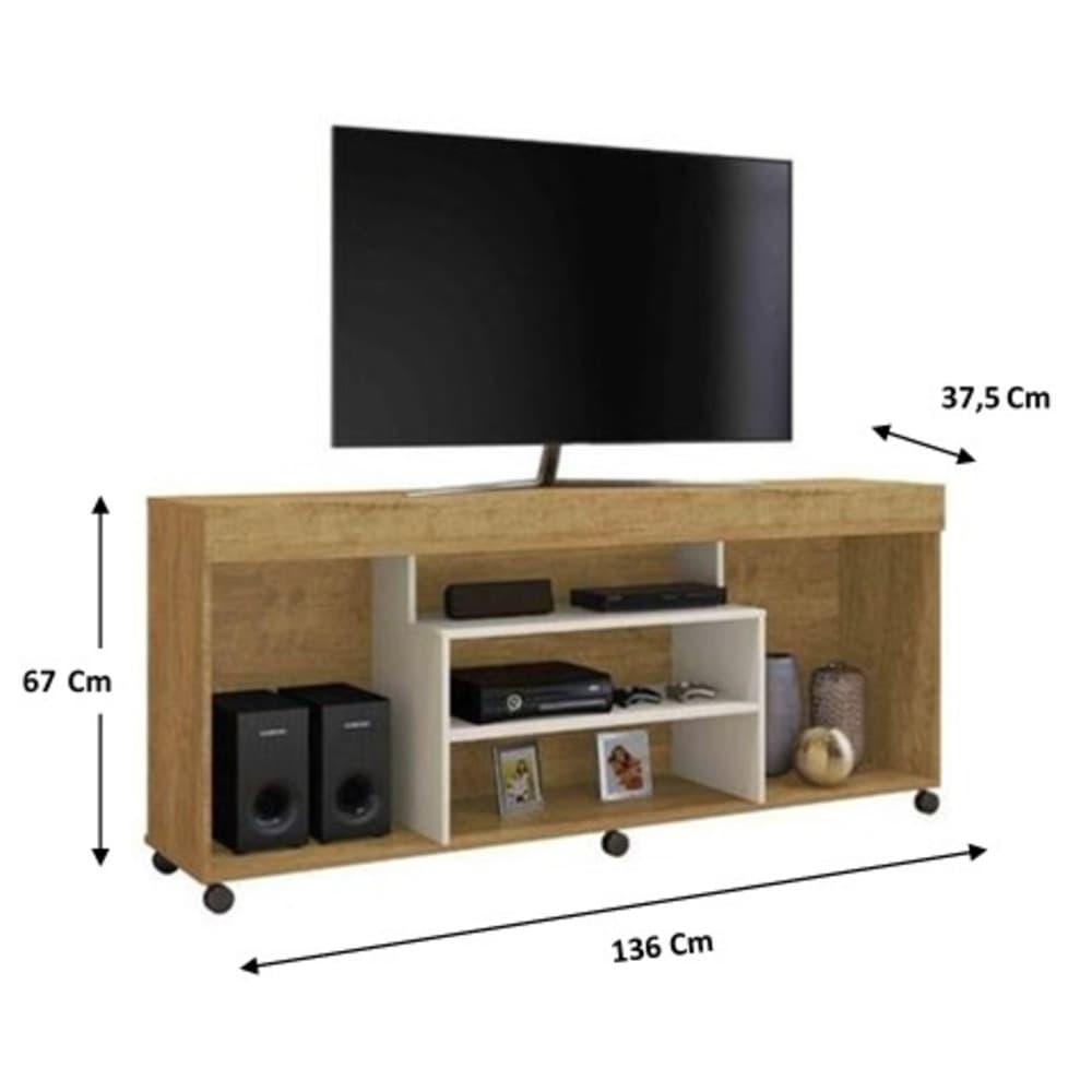 Rack para TV até 60 Polegadas Free - Mel/Off White - Mavaular