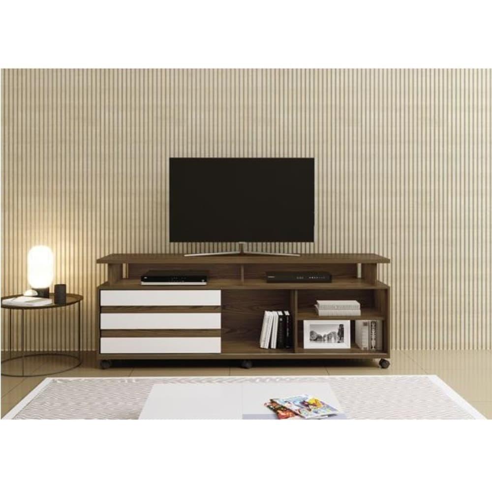 Rack para TV até 65 Polegadas Supremo Mavaular- Canion Soft /Off White - Mavaular