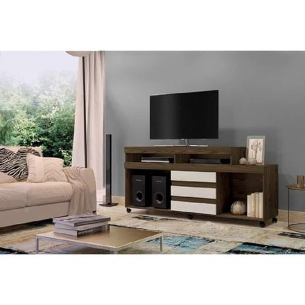 """Rack TV até 42"""" Triunfo - Canion Soft /Off White - Mavaular"""
