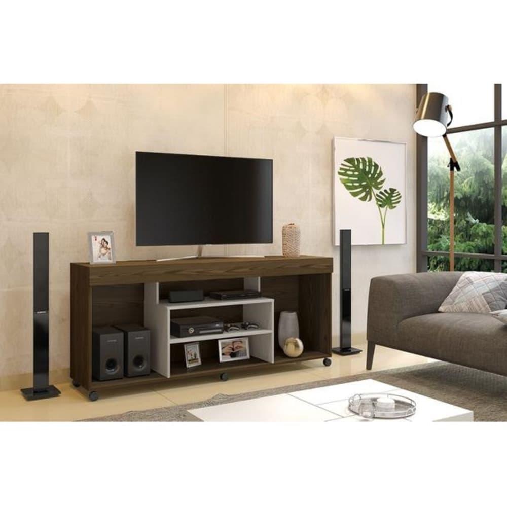 """Rack TV até 60"""" Free - Canion Soft /Off White - Mavaular"""