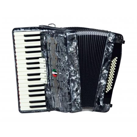 Acordeon Cadenza Cd48/34 Gr (cinza Perola)
