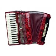Acordeon Cadenza Cd48b/34 Rd (vermelho)