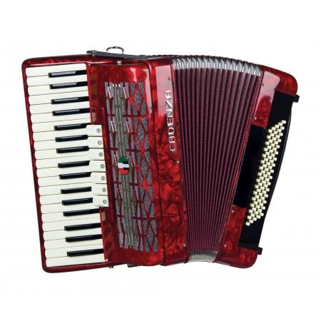 Acordeon Cadenza Cd80/37 Rd (vermelho)
