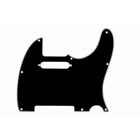 Escudo Para Guitarra Telecaster Pkg Tl-bk  Preto