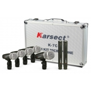 Kit Microfone Karsect K7c Para Bateria 7pcs