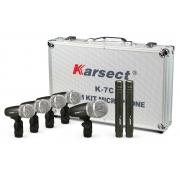 Kit Microfone Karsect K7c Parabateria 7pcs