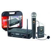 Microfone Vokal S/fio Dvs100dmh Duplo Mao/headset
