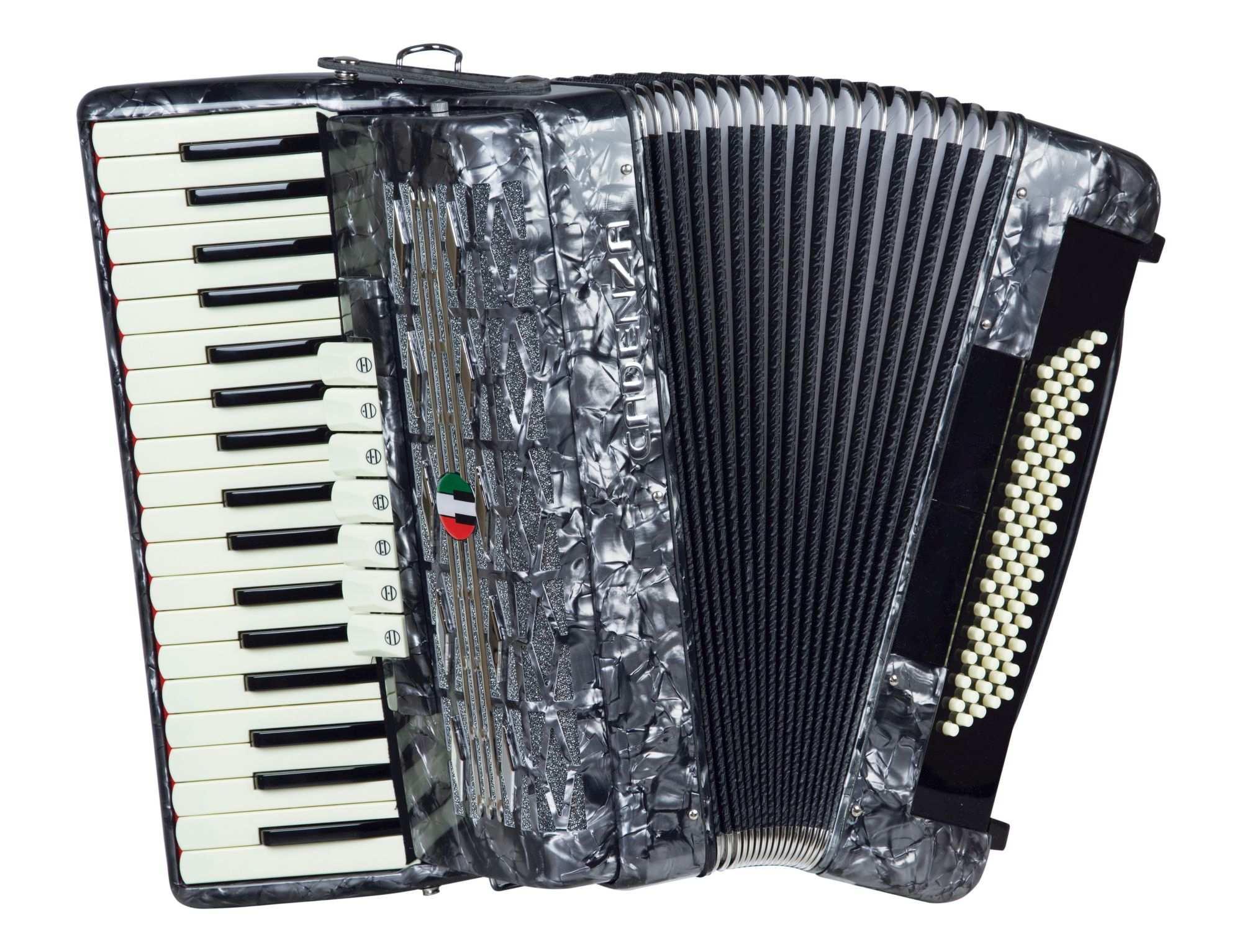 Acordeon Cadenza Cd80/37 Gr (cinza Perola)