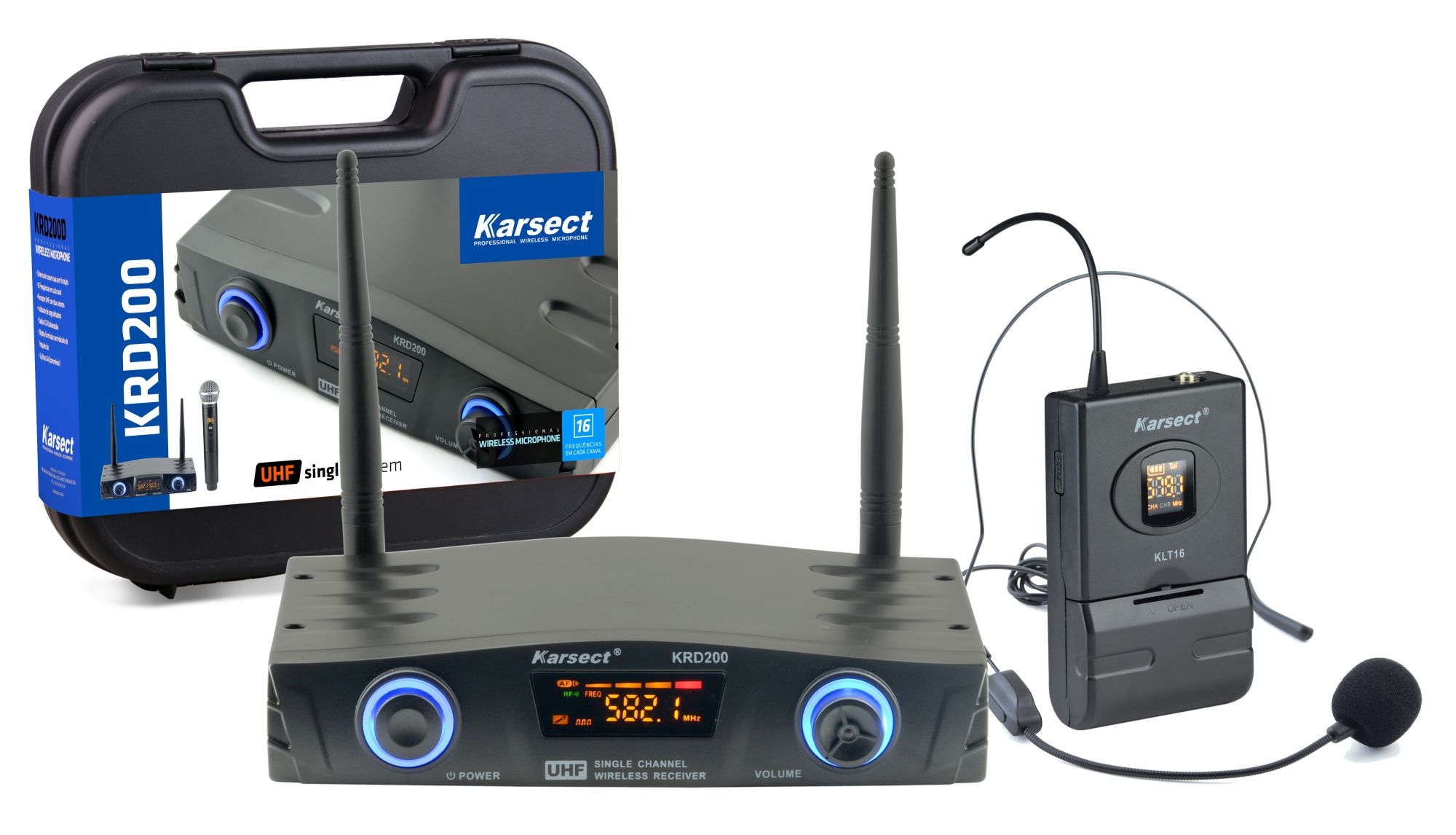 Microfone Karsect S/fio Krd200sh Single Headset