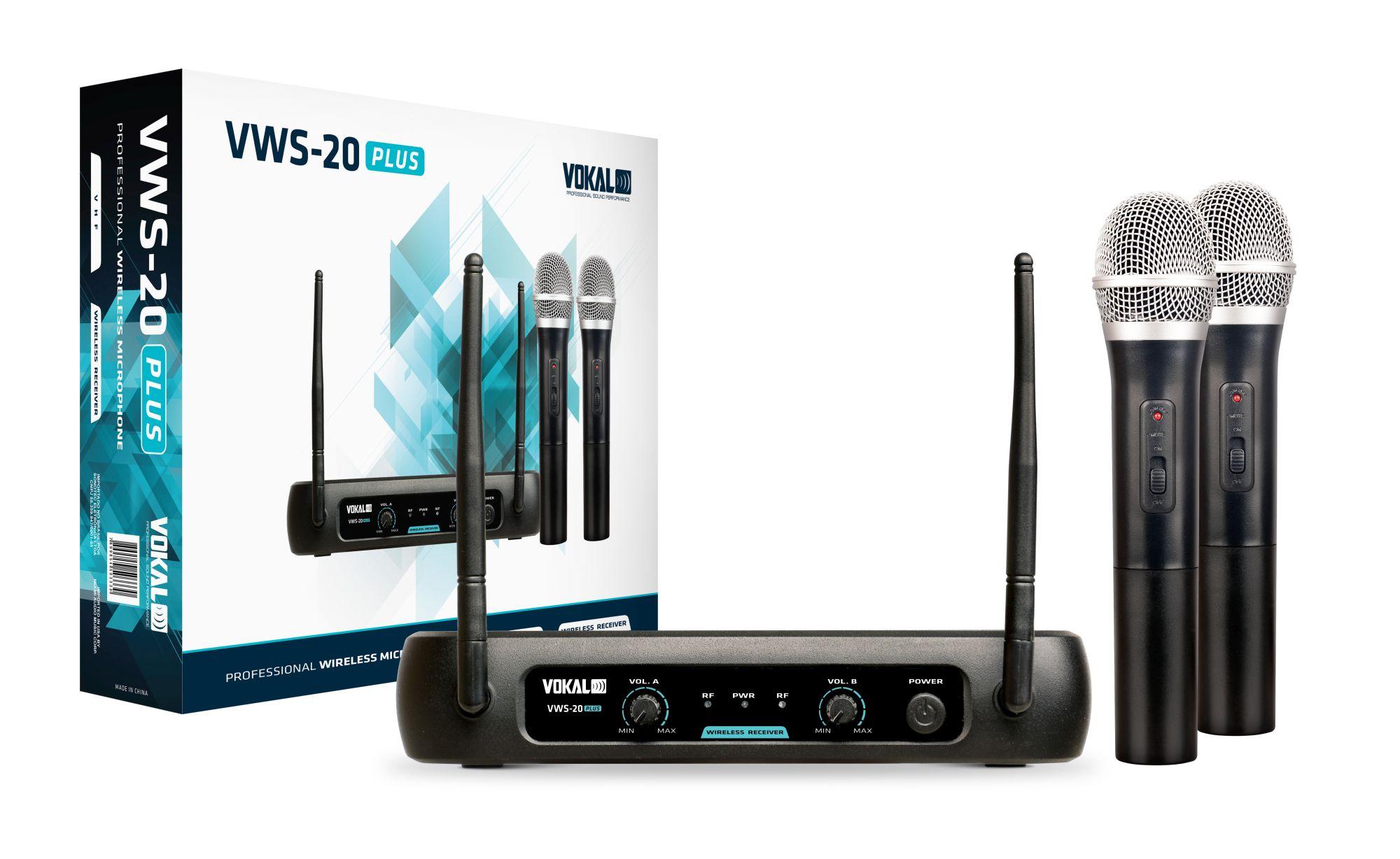 Microfone S/fio Vokal Vws20 Plus