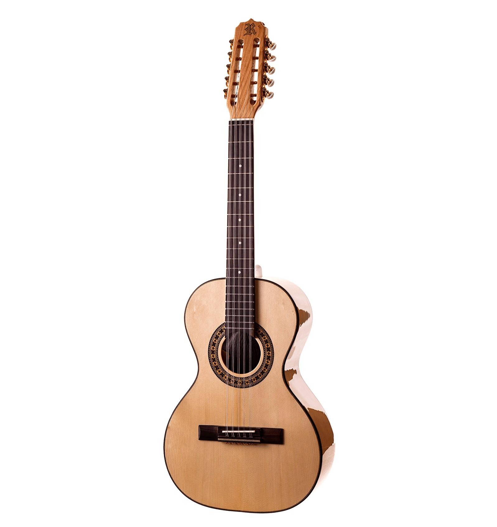 Viola Rozini Dourada Cinturada Acústica Rv217ac