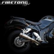 Escapamento Flame Ponteira Dupla Suzuki Hayabusa  /99-17/