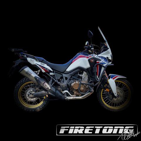 Escapamento Firetong Adventure Ponteira  Honda CRF 1000 L Africa Twin /17-18  - Firetong