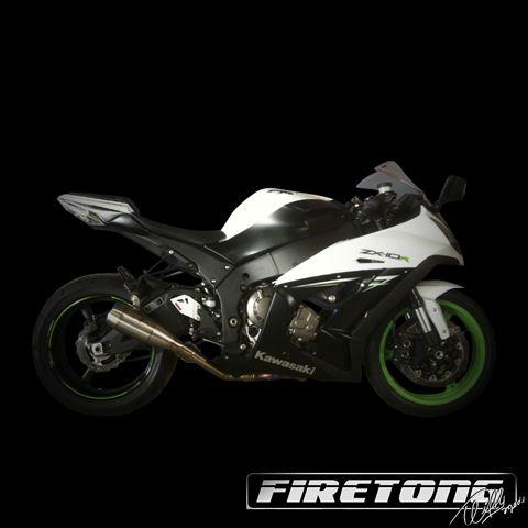 Escapamento Flame Kawasaki ZX- 10  /12-17/   - Firetong