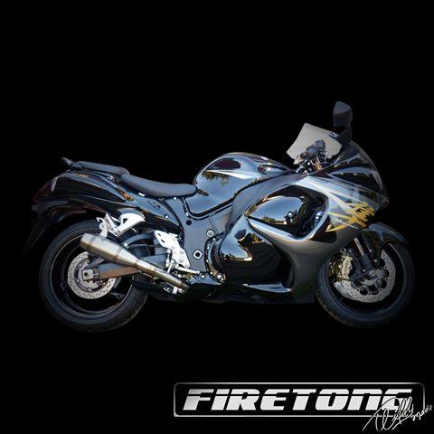 Escapamento Flame Ponteira Dupla Suzuki Hayabusa  /99-17/  - Firetong