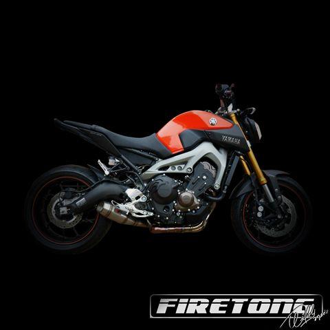 Escapamento Flame Yamaha MT-09  /15-17/  - Firetong