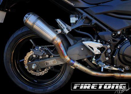 Escapamento GP Racing Ponteira Kawasaki Z-400  /19-20/   - Firetong