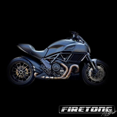 Escapamento Willy Made Ducati Diavel /11~17/   - Firetong