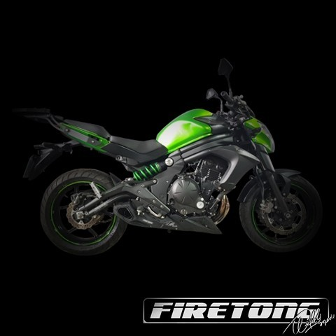 Escapamento Willy Made Full, Kawasaki ER-6N /2014~2020/   - Firetong