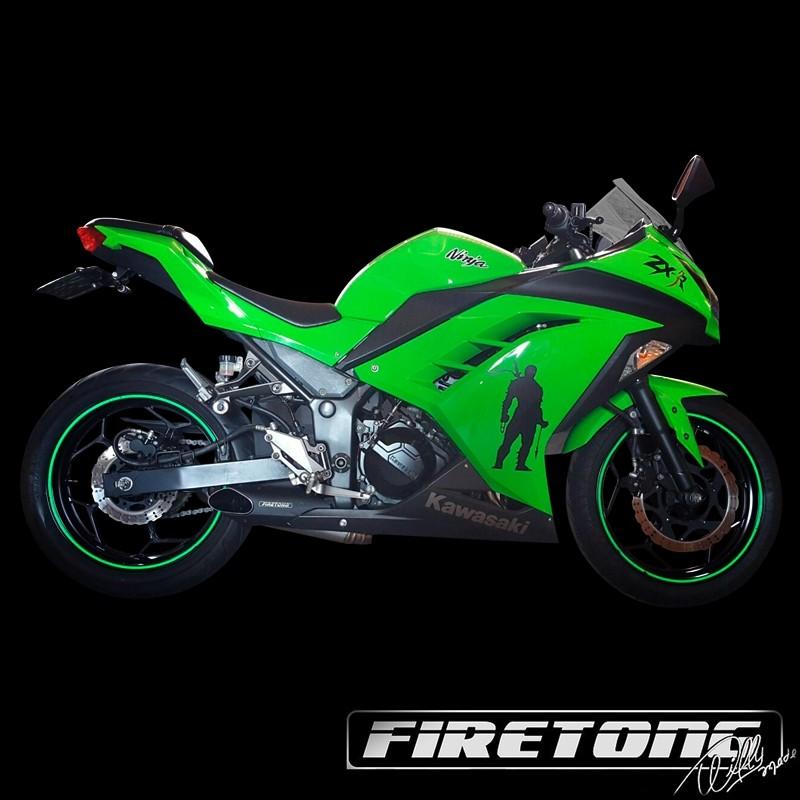 Escapamento Willy Made Full, Kawasaki Ninja 300 /13-18/   - Firetong