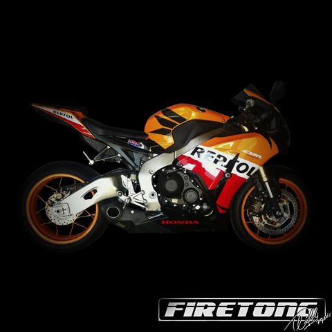 Escapamento Willy Made, Honda CBR 1000RR /12-17/  - Firetong