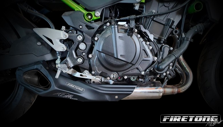 Escapamento Willy Made Kawasaki Z 400 / 2018  - Firetong